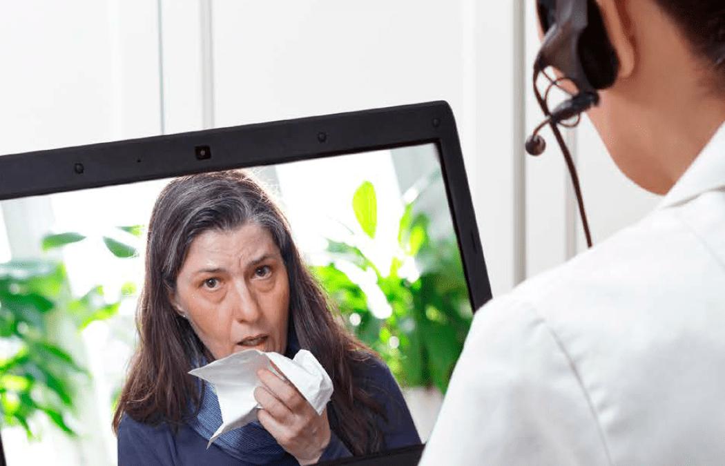 """Webinar """"Telemedicina:  ¿Cuáles aspectos debo considerar al brindar consulta a distancia?""""."""