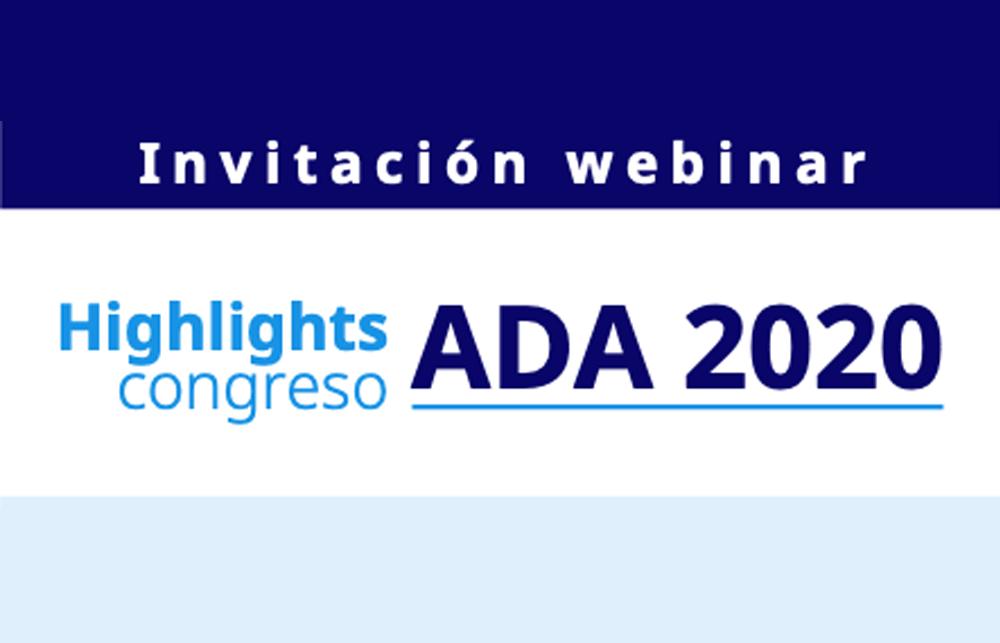 Webinar: Highlights Congreso ADA 2020